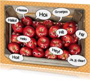 groetjes van een mand appels