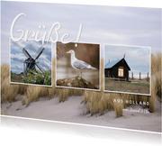 Grußkarte Urlaub Bilderreihe
