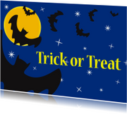 Halloween kaart Trick or Treat