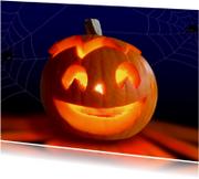 Halloween Pompoen met kaarslicht