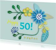 Happy 50! bloemen