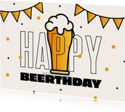 'Happy Beerthday' lustige Geburtstagskarte