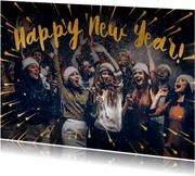 Happy New Year geel foto - BK