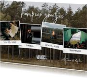 Hippe vakantiekaart polaroid fotocollage kampeer groetjes