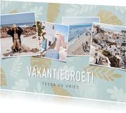 Hippe vakantiekaart vakantiegroet met foto's en plantjes