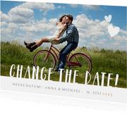 Hochzeitskarte Neues Datum mit Foto