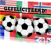 jarig voetbal mannen vlaggen stoer
