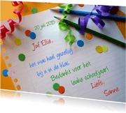 Juf - Meester - Verjaardag - Feestpapier