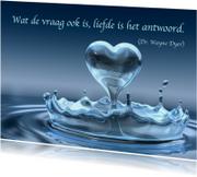Kaart met spreuk liefde