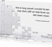 Kaart met spreuk puzzel