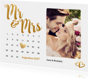 Kalender Mr & Mrs goud foto - BK