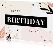 Karte Glückwunsch pastell Geburtstag 'Happy Birthday'
