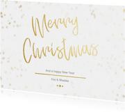 Kerstkaart Christmas wit met goud - Een gouden kerst