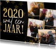 Kerstkaart fotocollage terugblik 2020 wat een jaar
