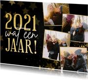 Kerstkaart fotocollage terugblik 2021 wat een jaar