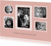 Kerstkaart fotolijstjes fotocollage