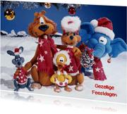 Kerstkaart Loeki en vrienden Kerstmis