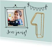 Kinderfeestje 1 jaar jongen gouddraad