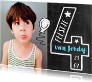 Kinderfeestje 4 jaar fotokaart jongen