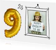 Kinderfeestje 9 jaar ballon foto