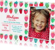 Kinderfeestje Aardbeien Rood fruit