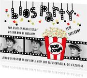 Kinderfeestje bioscoop fotocollage kind