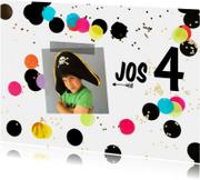 Kinderfeestje confetti zwart-wit
