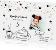 Kinderfeestjes - Kinderfeestje hip confetti illustratie taart
