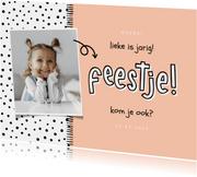 Kinderfeestjes - Kinderfeestje hip met foto en aanpasbare kleur