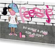 Kinderfeestje meisje stoer graffiti