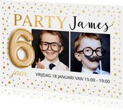 Kinderfeestje met foto goud confetti
