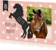 Kinderfeestje paard krijtbord