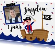Kinderfeestje piraten confetti foto