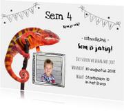 Kinderfeestje - Uitnodiging reptielen met eigen foto