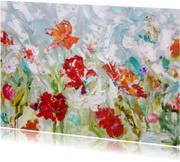Kunst bloemen schilderij rh IF