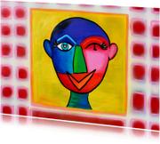 Kunstkaart abstract hoofd