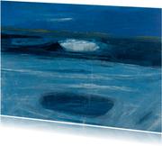 Kunstkaart abstract zee en wolk