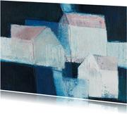 Kunstkaart witte huizen
