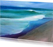 Kunstkaart zee strand