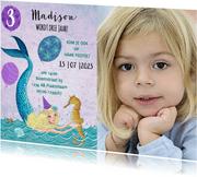 Leeftijd aanpasbaar verjaardag zeemeermin