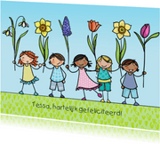 Lente verjaardagskaart Anet Illustraties