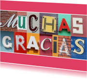 Letters Muchas gracias