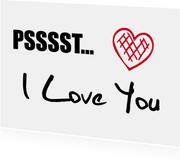 Liefde kaarten - I Love You