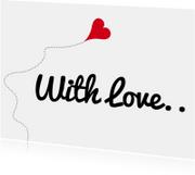 Liefde kaarten - With Love