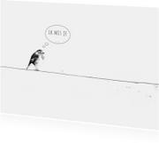 Liefdekaart Vogeltje Mist Je