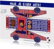 Maak je eigen auto Jongen DIY knutsel kaart