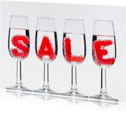 Maling sale in champagne glazen