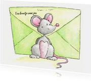 Muisje met post