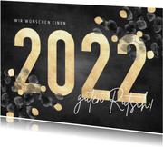 Neujahrskarte 2022 mit stilvollem Eukalyptus