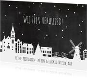 Nieuwjaar verhuiskaart holland